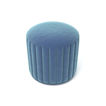 Caren Upholstered Stripped Round Pouf
