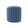 Caren Upholstered Stripped Round Pouf 3