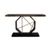 Celina Wood with Marble Brass Console Table 1
