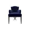 Cross Upholstered Tufted Armchair 1