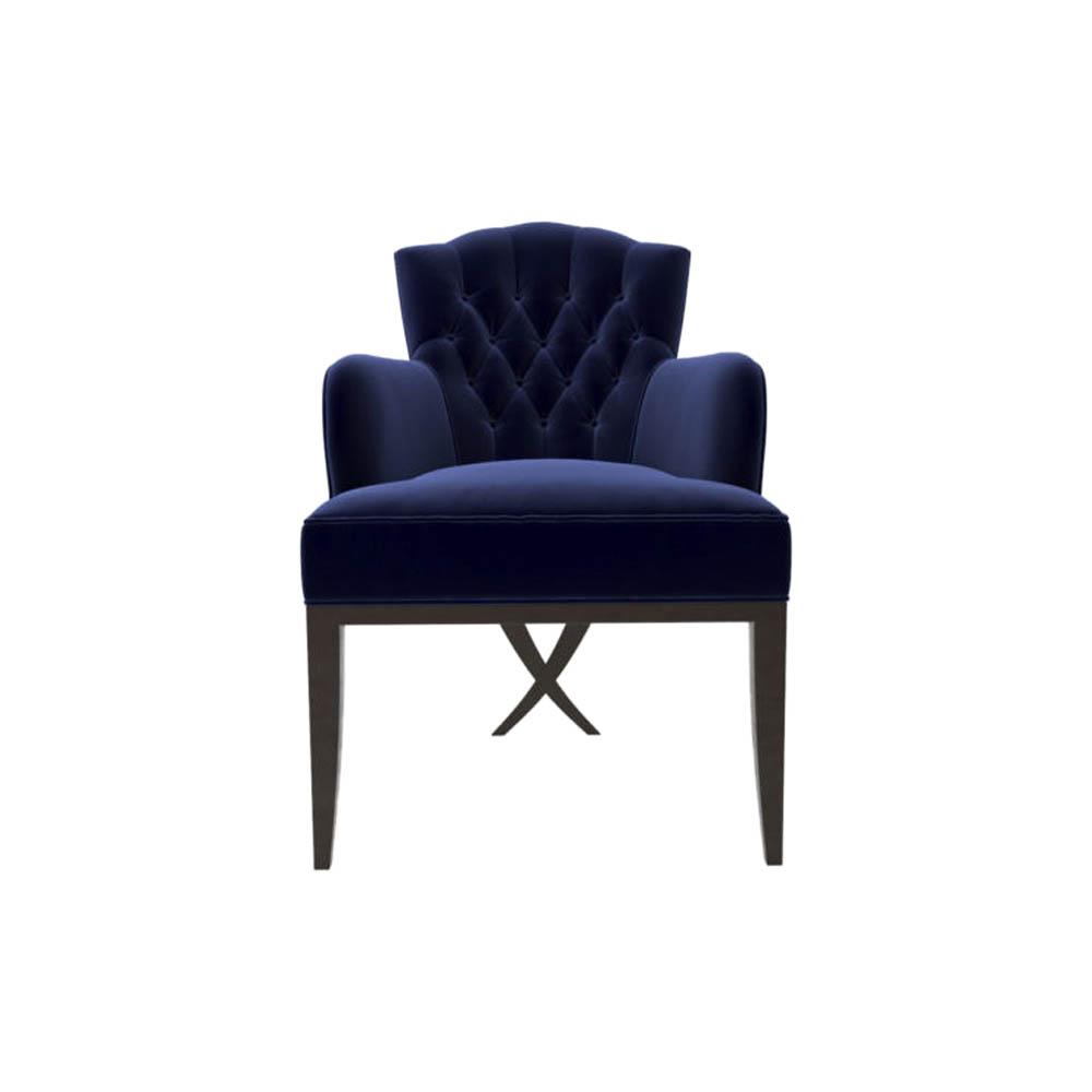 Cross Upholstered Tufted Armchair
