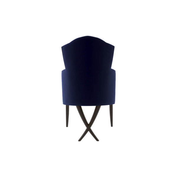 Cross Upholstered Tufted Armchair Back View