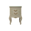 Dixon Wood Light Grey Lacquer Bedside Table 1