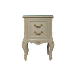 Dixon Wood Light Grey Lacquer Bedside Table