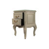Dixon Wood Light Grey Lacquer Bedside Table 4