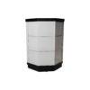 Drue Wood Black and Light Grey Bedside Table 1
