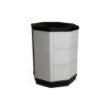 Drue Wood Black and Light Grey Bedside Table 4