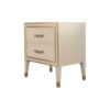 Emma Grey and Wood Bedside Table with Brass Inlay 4