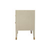 Emma Grey and Wood Bedside Table with Brass Inlay 3