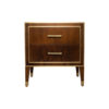 Emma Walnut Bedside Table with Brass Inlay 1