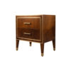 Emma Walnut Bedside Table with Brass Inlay 4
