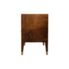 Emma Walnut Bedside Table with Brass Inlay 3