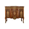 Ketho Marquetry Wood with Marble Top Vanity Unit 1