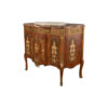 Ketho Marquetry Wood with Marble Top Vanity Unit 3