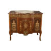 Ketho Marquetry Wood with Marble Top Vanity Unit 2