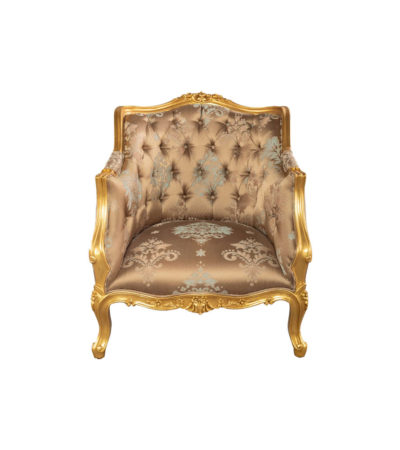 Kmart Upholstered Tufted Pattern Armchair