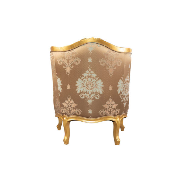 Kmart Upholstered Tufted Pattern Armchair Back View