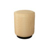 Loren Upholstered Round Pouf with Black Base 1