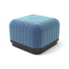 Lorna Upholstered Square Pouf with Wooden Base 5