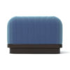 Lorna Upholstered Square Pouf with Wooden Base 4