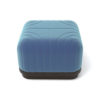Lorna Upholstered Square Pouf with Wooden Base 3