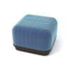 Lorna Upholstered Square Pouf with Wooden Base 1