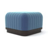Lorna Upholstered Square Pouf with Wooden Base 2