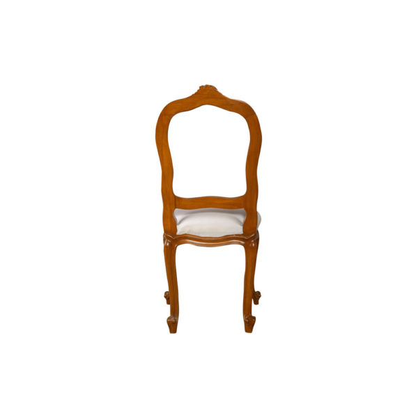 Macey Upholstered Vintage Dining Chair with Wood Frame Back View