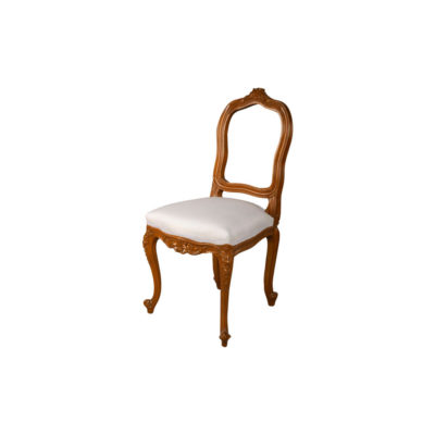 Macey Upholstered Vintage Dining Chair with Wood Frame Beside View