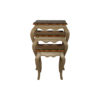 Mallory Wood Beige Nest Side Table with Glass Top 2
