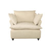 Mars Upholstered Off White Armchair with Cushions 1