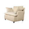 Mars Upholstered Off White Armchair with Cushions 2