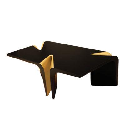 Mercado Dark Brown and Wood Coffee Table