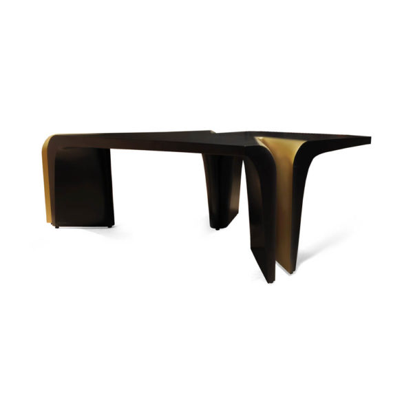 Mercado Dark Brown and Wood Coffee Table Edge