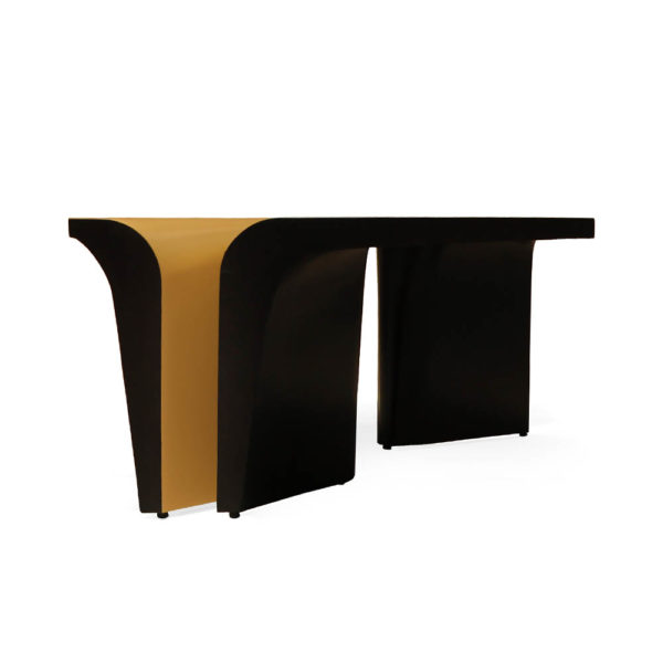 Mercado Dark Brown and Wood Coffee Table Front