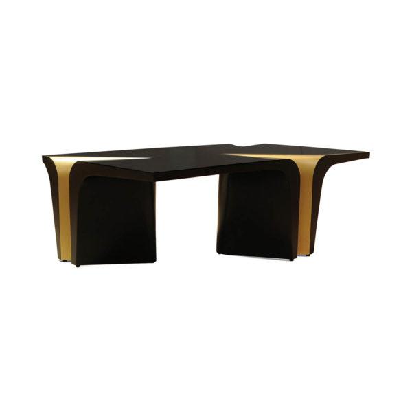 Mercado Dark Brown and Wood Coffee Table Side