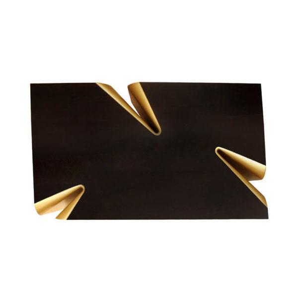 Mercado Dark Brown and Wood Coffee Table Top