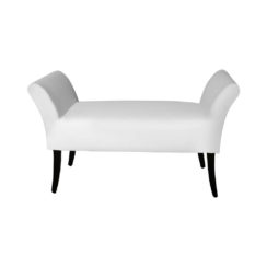 Nelson Upholstered Bench with Arms Top View