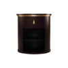 Nova Dark Brown Oval Bedside Table with Brass Inlay 1