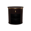 Nova Dark Brown Oval Bedside Table with Brass Inlay 2