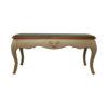 Rimadesio Rectangular Wood Beige Coffee Table with Glass Top 1
