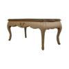 Rimadesio Rectangular Wood Beige Coffee Table with Glass Top 4