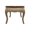 Rimadesio Rectangular Wood Beige Coffee Table with Glass Top 3