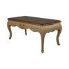 Rimadesio Rectangular Wood Beige Coffee Table with Glass Top 2