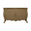 Roux Beige Wooden Sideboard with Glass Top 1