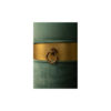 Saskia Upholstered Round Turquoise Velvet Pouf with Brass Inlay 3