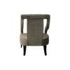 Shelley Upholstered Dark Grey Armchair with Black Wood Legs 4