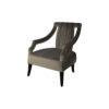 Shelley Upholstered Dark Grey Armchair with Black Wood Legs 3