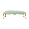 Stuva Upholstered Turquoise Velvet Bench with Gold Legs 1