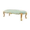 Stuva Upholstered Turquoise Velvet Bench with Gold Legs 3